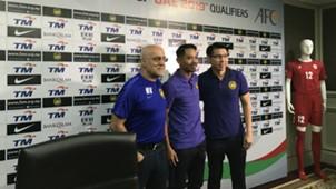 Nelo Vingada, Safiq Rahim, Tan Cheng Hoe, Malaysia, Asian Cup qualifier, 12/06/2017