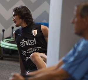 Cavani treino uruguai