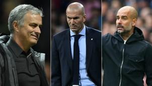 Mourinho Zidane Guardiola