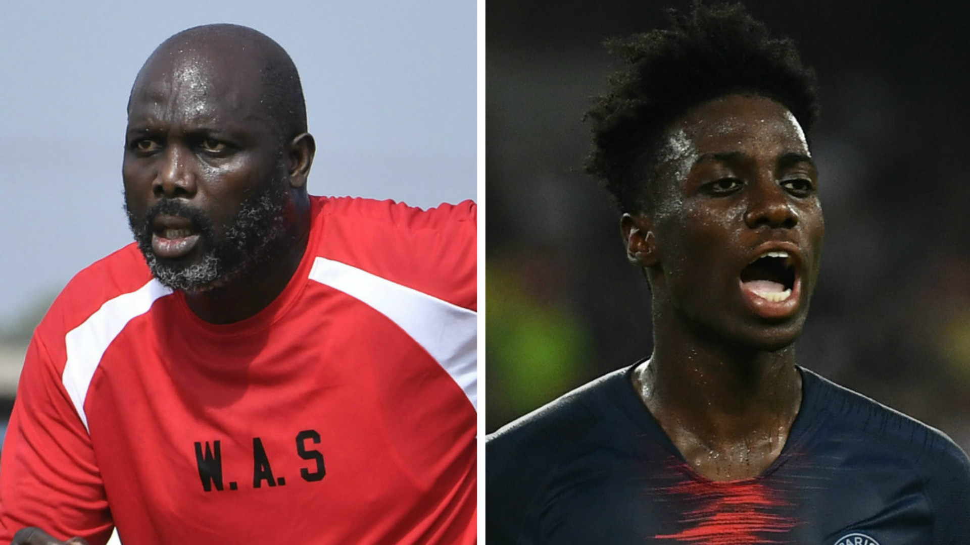 President George Weah plays for Liberia in Nigeria friendly