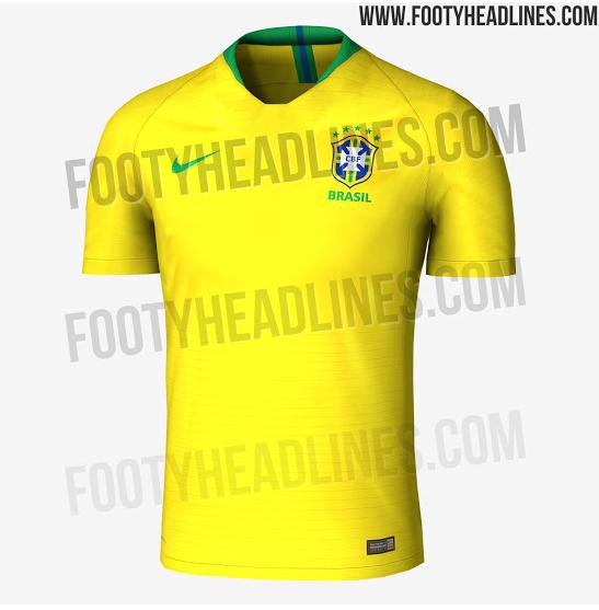 Seleção Brasileira Brasil Camisa Copa do Mundo 2018 Seleção Brasileira  Brasil Camisa Copa do Mundo 2018 f7ff187531ff0