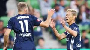 Ola Toivonen Keisuke Honda Melbourne Victory