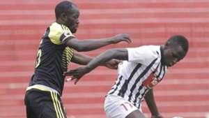 Johnson Bagoole tackle Aziz Okaka of Sofapaka.