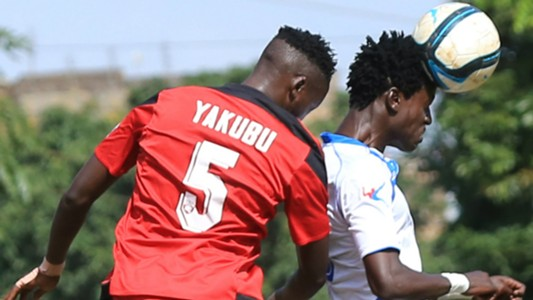 Ramadhan Yakubu of AFC Leopards v Rey Omondi of Thika United