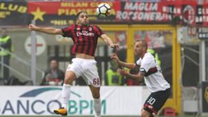 Ricardo Rodriguez Luca Rigoni Milan Genoa Serie A