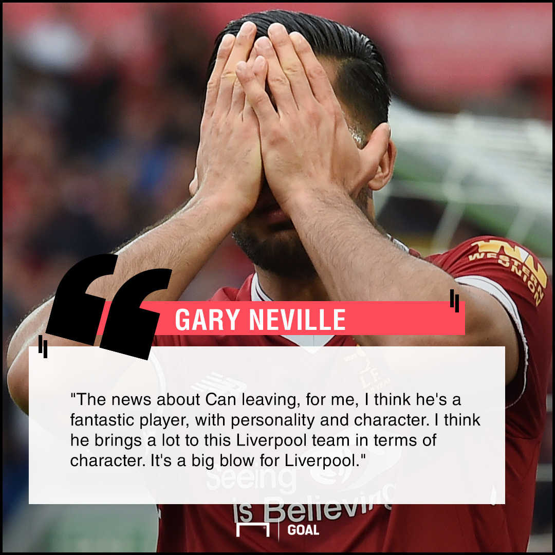 Emre Can big blow Gary Neville