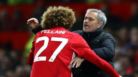 Marouane Fellaini Jose Mourinho Manchester United