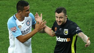 Tim Cahill Roy O'Donovan Melbourne City v Central Coast Mariners A-League 19012017