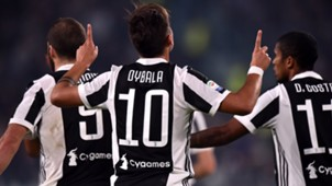 Paulo Dybala Juventus celebrating vs Spal Serie A