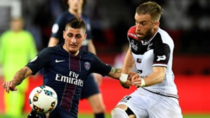 Marco Verratti Lucas Deaux PSG Guingamp Ligue 1 09042017