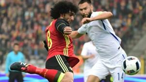 Fellaini in action for Belgium