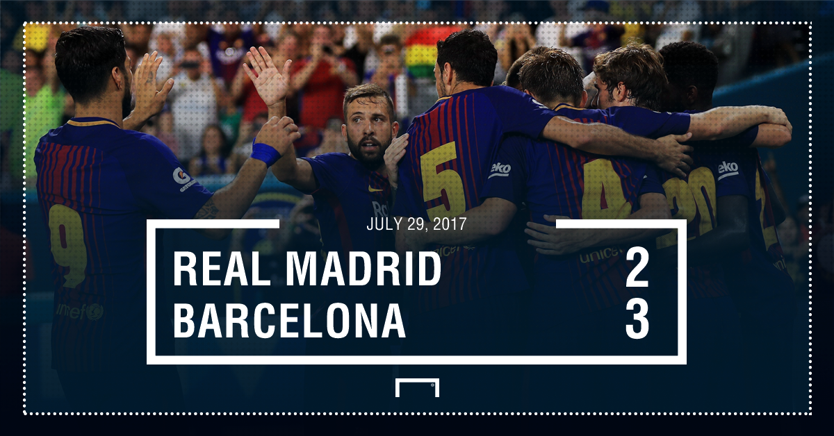 Real Madrid Barcelona score graphic