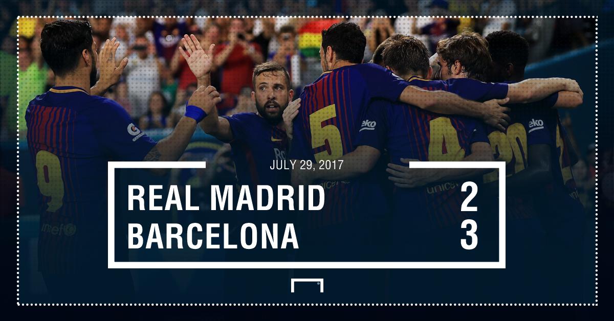 Real Madrid Barcelona score graphic