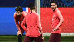 Lionel Messi training Inter Barcelona