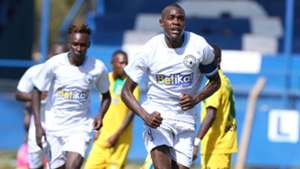 George Maelo of Sofapaka celebrates Mathare Unuted goal