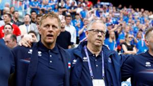 Heimir Hallgrímsson and Lars Lagerback Iceland