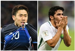 Shinji Kagawa Japan Yahya Al Shehri Saudi Arabia World Cup qualifying