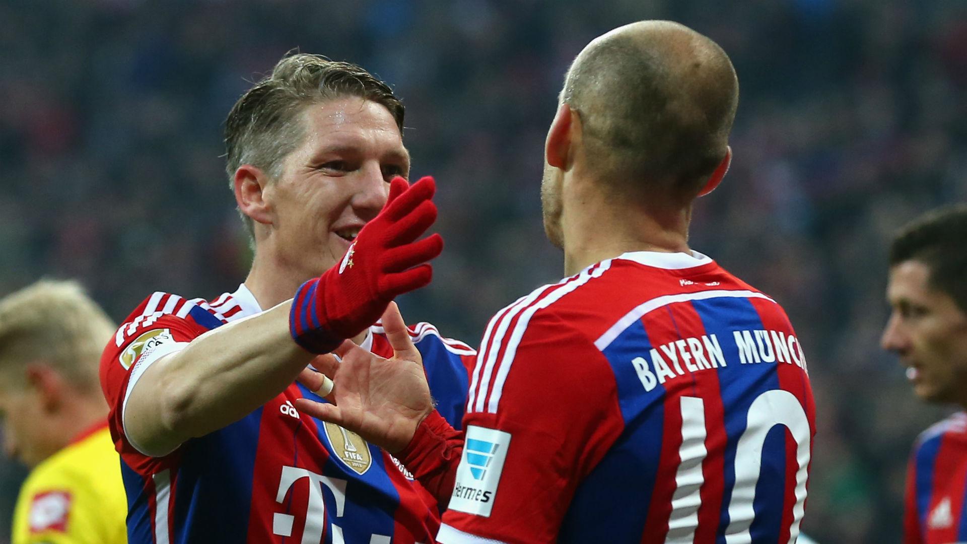 Bastian Schweinsteiger Arjen Robben Bayern Munich