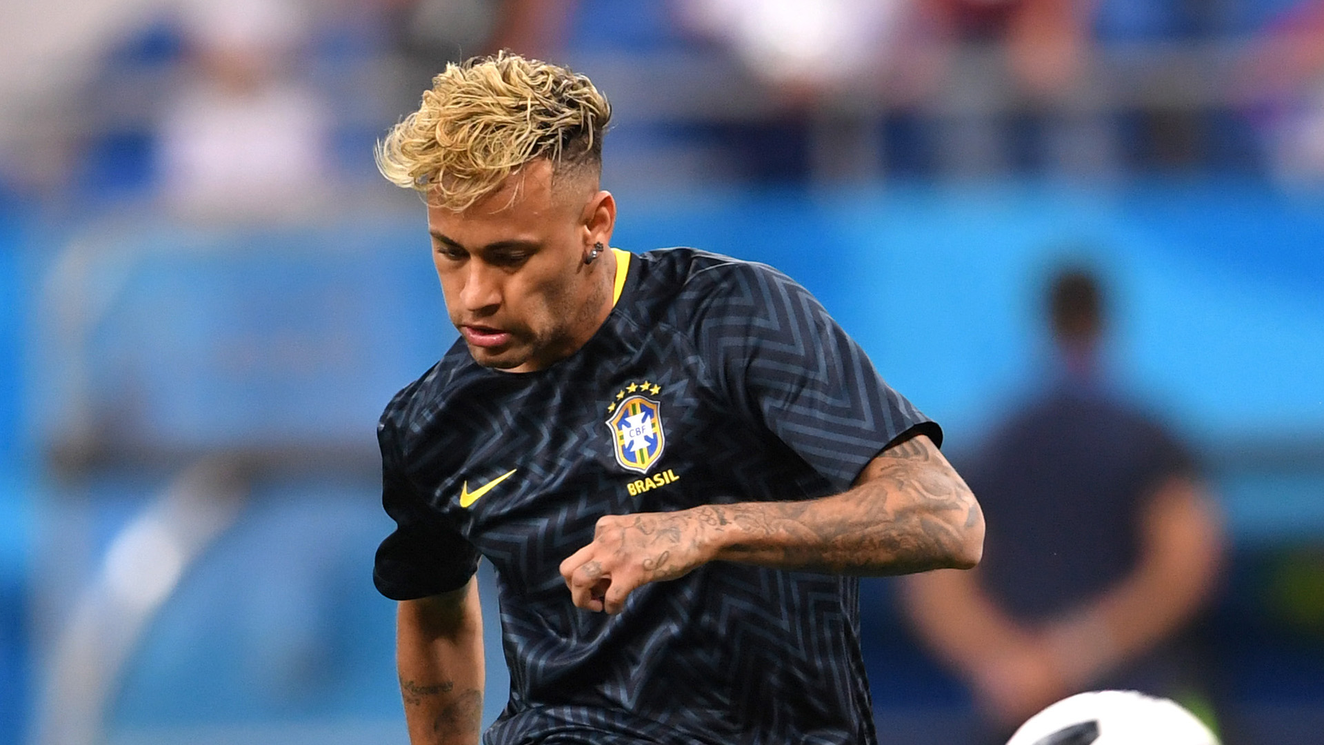 Neymar pre match Brazil Switzerland World Cup 17062018