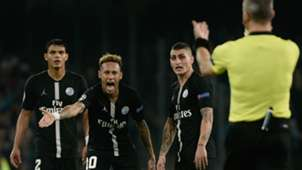 Neymar Bjorn Kuipers PSG 2018
