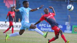 Cliff Kasuti of Sofapaka v Said Tsuma of AFC Leopards.