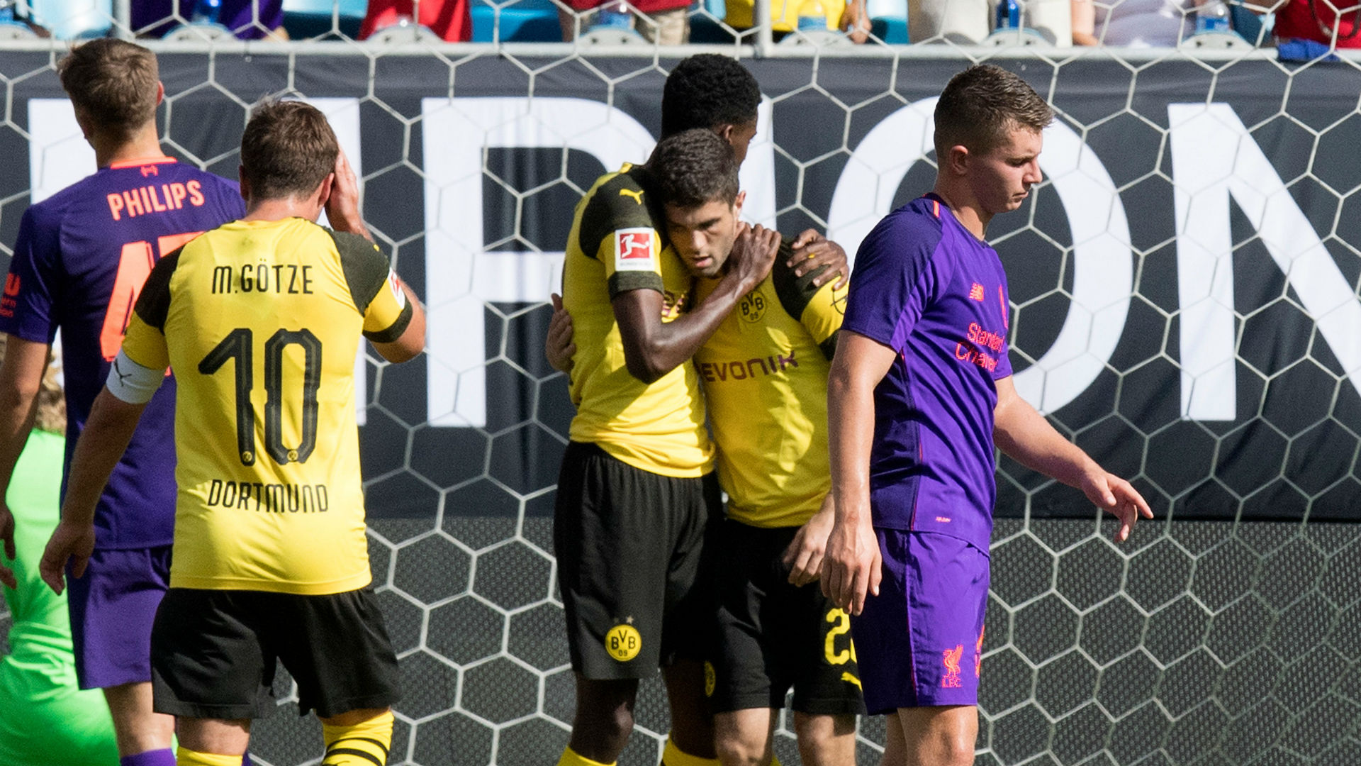 Joel Matip limps off in Liverpool's friendly with Borussia Dortmund