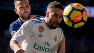 Jordi Alba Dani Carvajal Real Madrid Barcelona El Clásico LaLiga 23122017