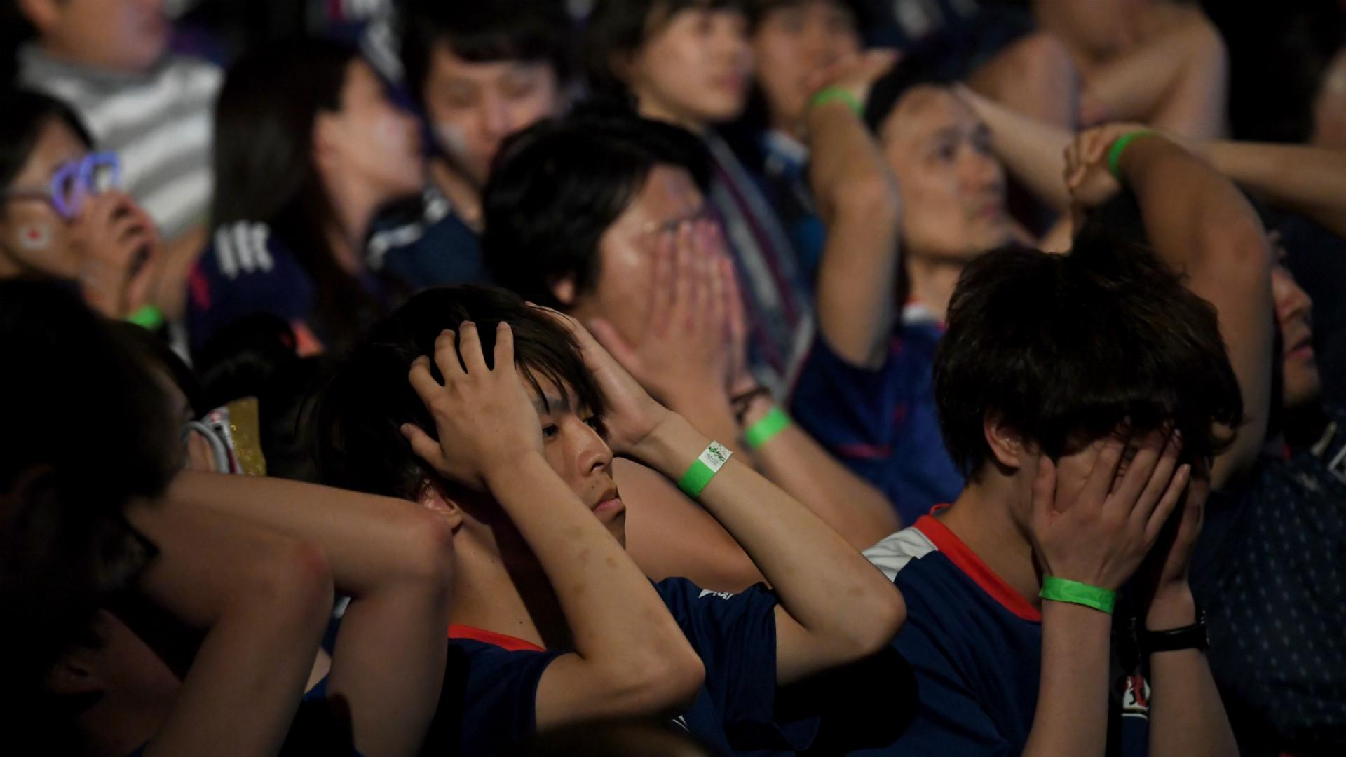 Belgium vs Japan World Cup fans