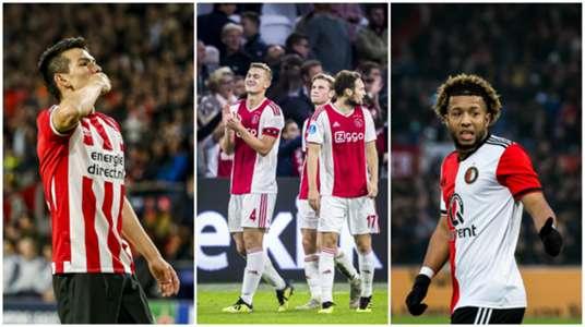 Collage Lozano De Jong De Ligt Blind Vilhena Eredivisie