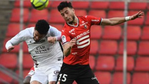 Ramy Bensebaini Emmanuel Riviere Rennes Metz Ligue 1 14042018