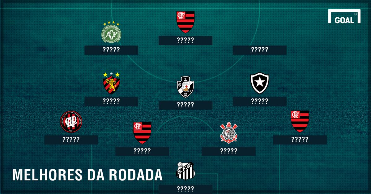GFX melhores 7 rodada do Brasileirão