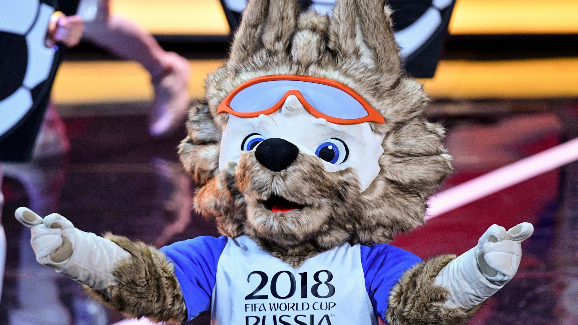 Zabivaka mascot FIFA World Cup 2018 draw