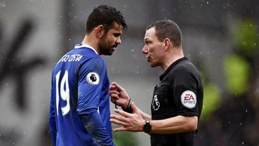 Diego Costa Chelsea referee 12022017