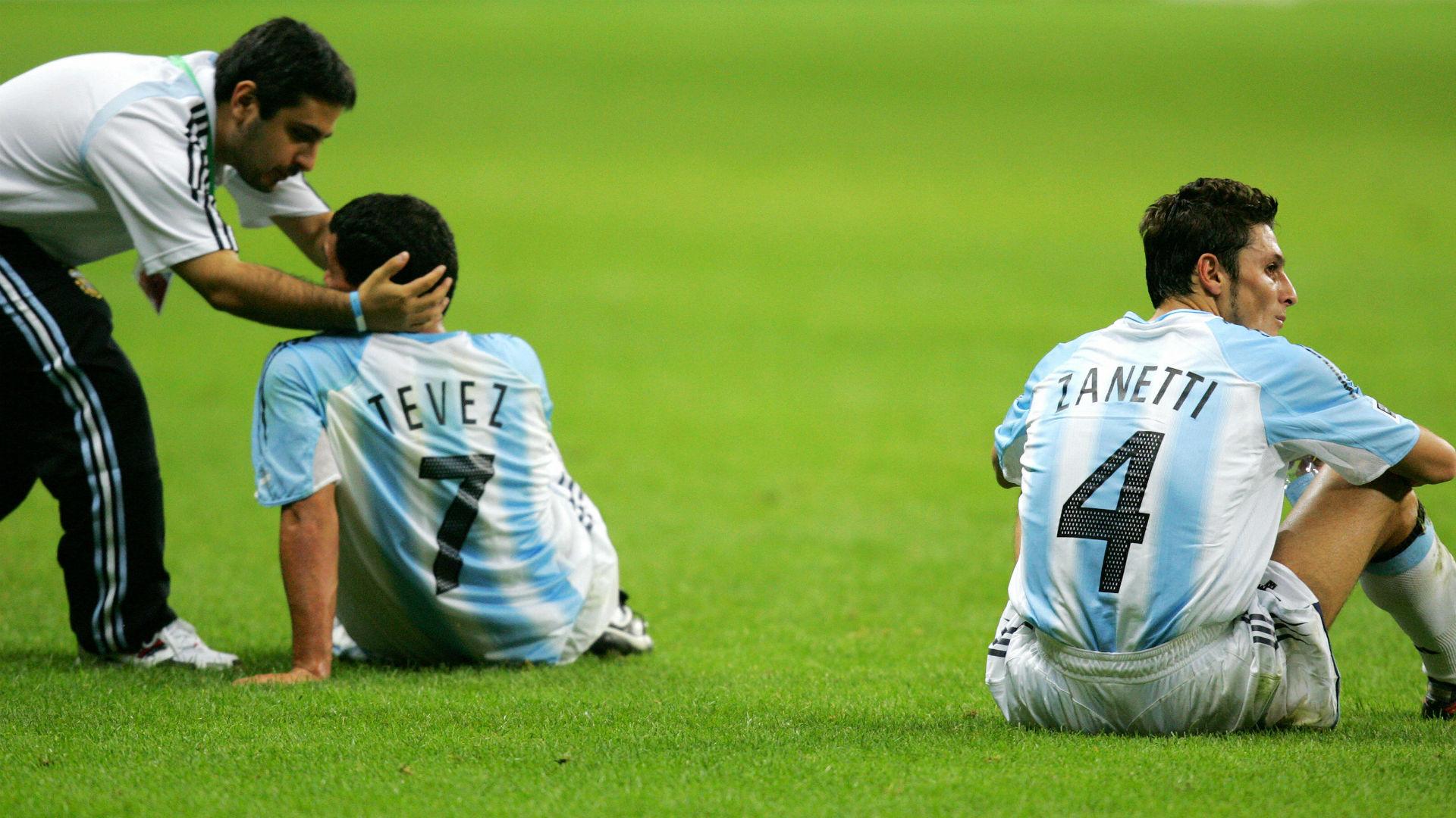 Tevez Zanetti Final Copa Confederaciones 2005 Brasil Argentina