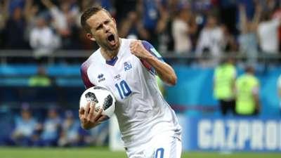 Gylfi Sigurdsson Iceland vs Croatia World Cup