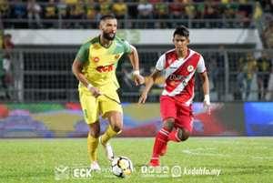 Liridon Krasniqi, Kedah, Irfan Zakaria, Kuala Lumpur, Malaysia Super League, 10032018