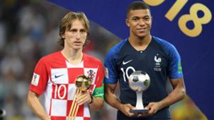 Luka Modric Kylian Mbappe World Cup 2018