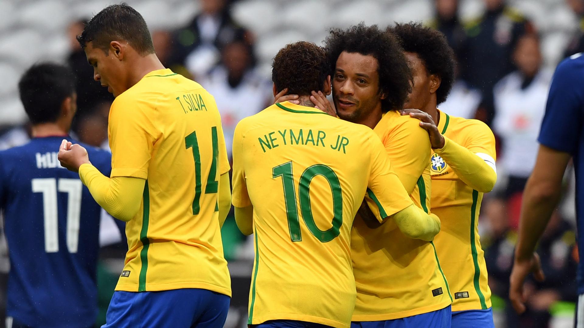 Neymar Marcelo I Brasil Japão I 10 11 18