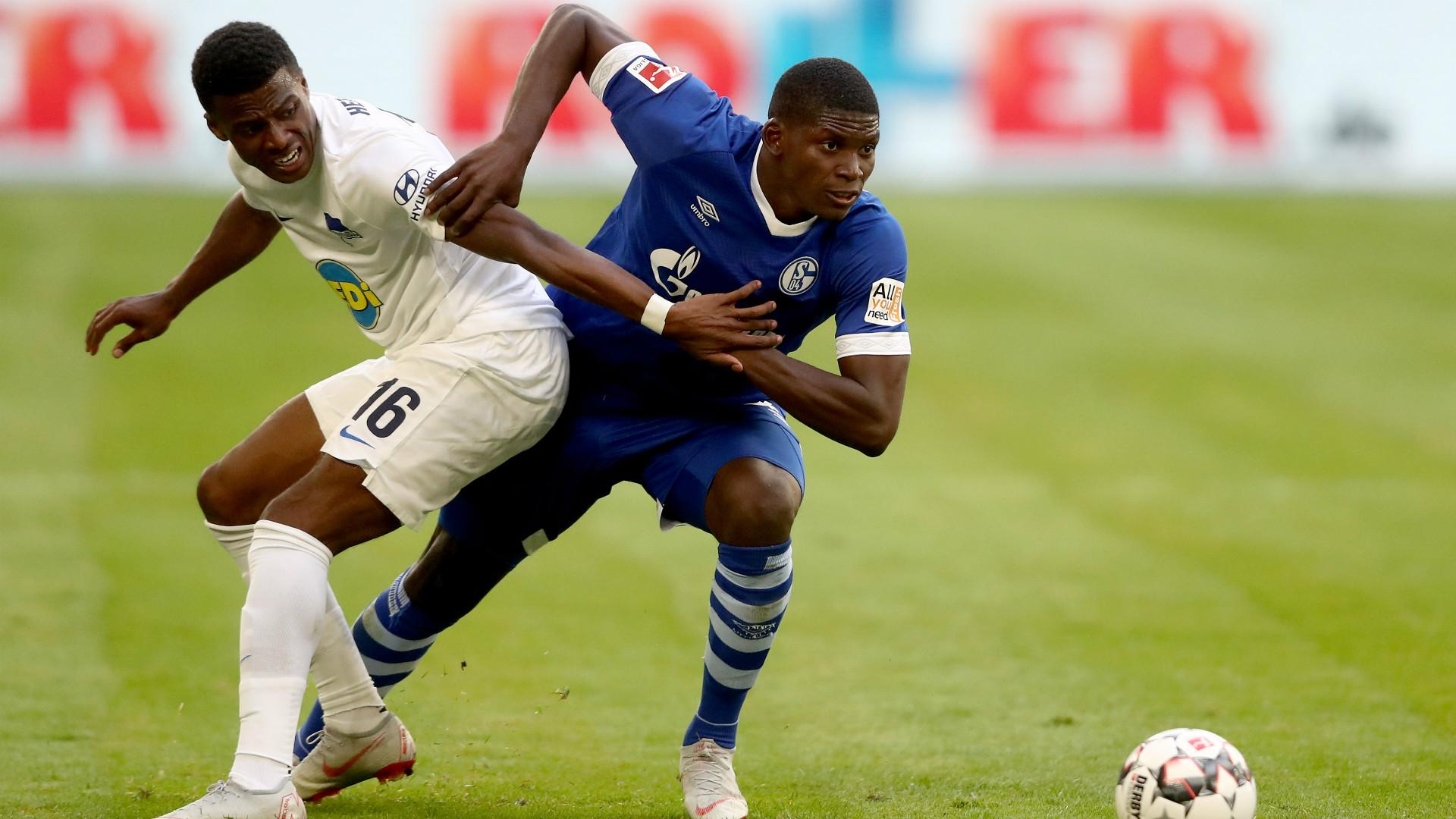 Breel Embolo Javairo Dilrosun Schalke 04 Hertha BSC 02092018