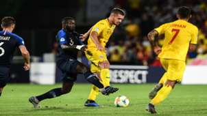 George Puscas  Dayot Upamecano France J21 Romania U21 Euro U21 24062019