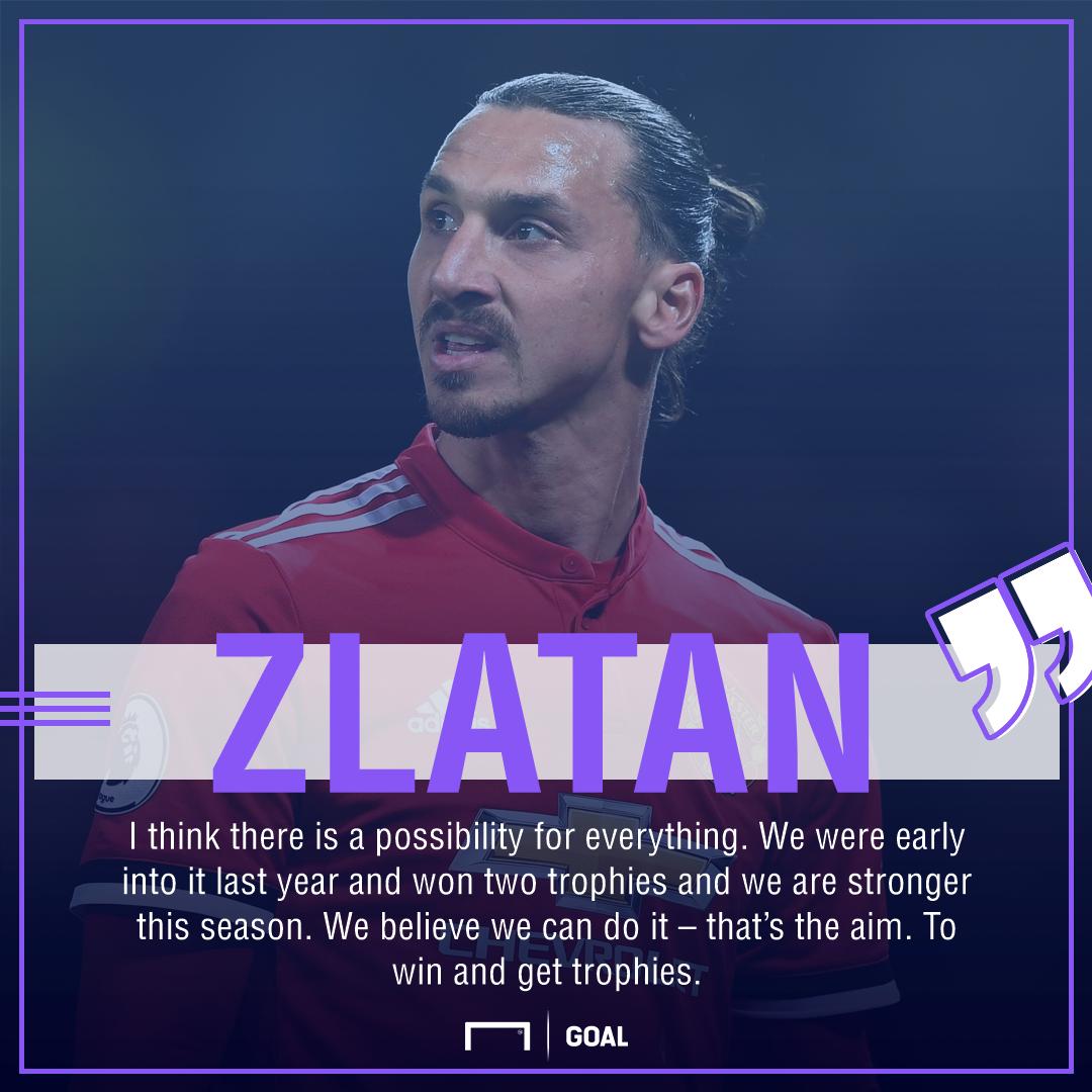 Zlatan Ibrahimovic Manchester United trophy target