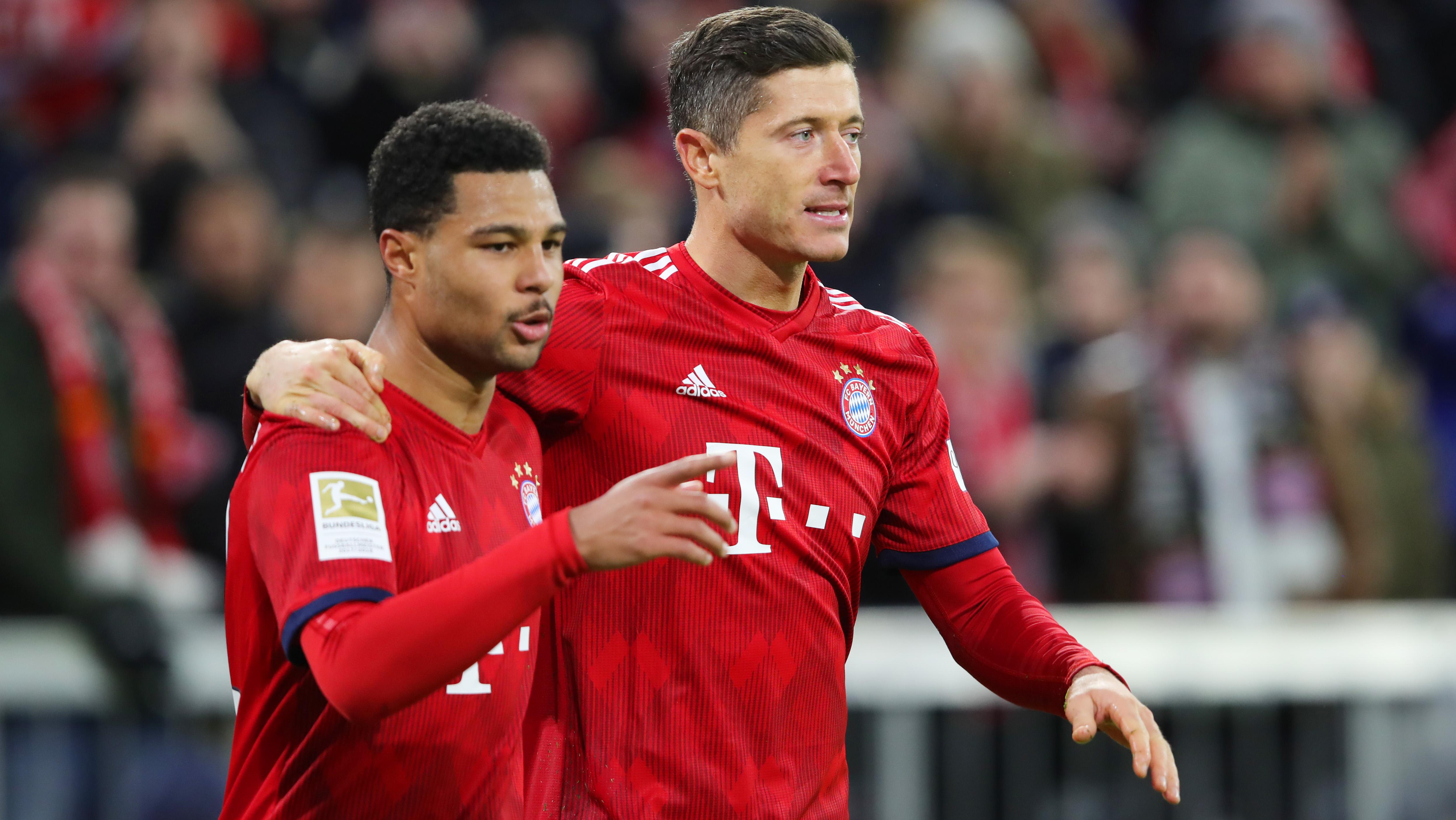 Robert Lewandowski Serge Gnabry FC Bayern