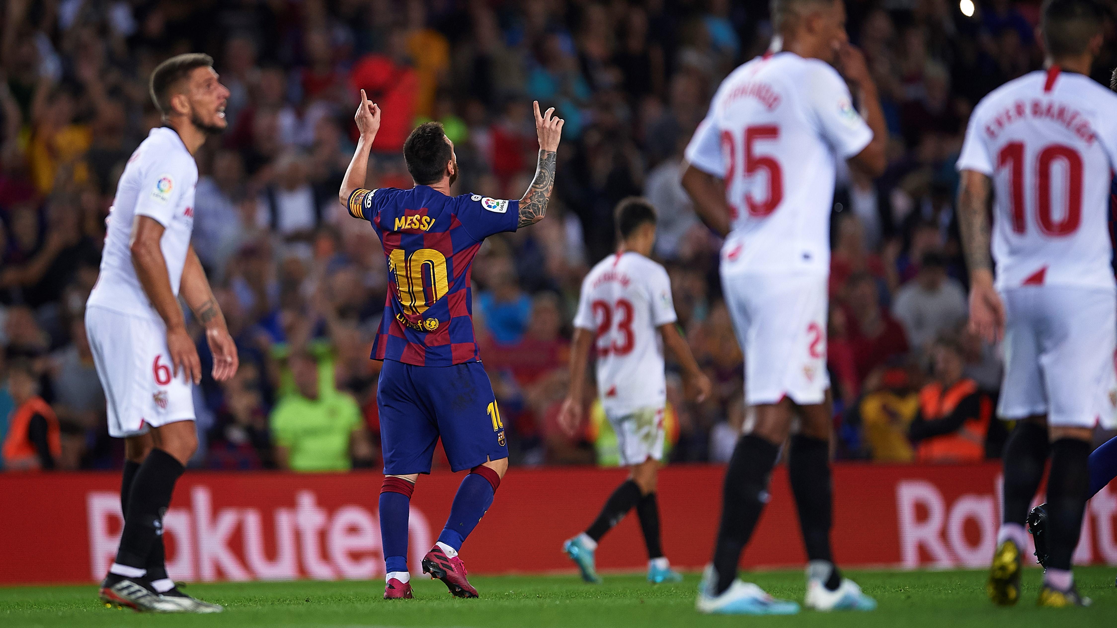 Lionel Messi Barcelona Sevilla LaLiga 06102019