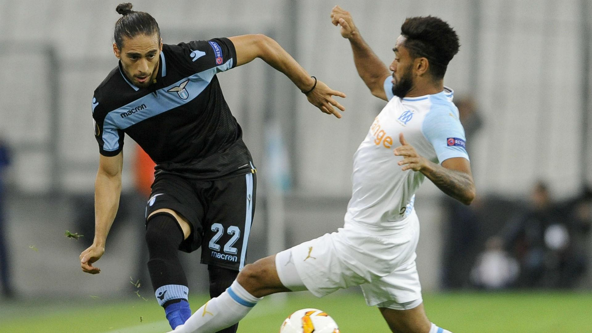 Jordan Amavi Martin Caceres Marseille Lazio UEFA Europa League 25102018