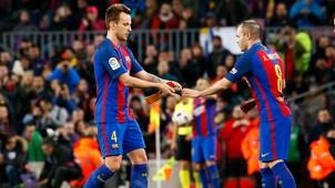 Iniesta Rakitic Barcelona La Liga 23042017