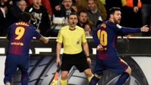 Lionel Messi Luis Suarez Valencia Barcelona LaLiga 26112017