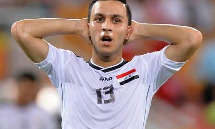 أسامة رشيد، لاعب وسط المنتخب العراقي