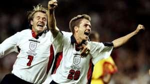 David Beckham Michael Owen England Romania FIFA World Cup 1998