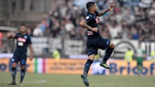 Lorenzo Insigne celebrates goal SPAL Napoli
