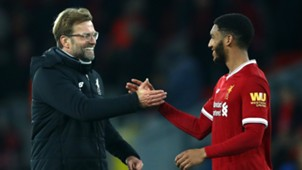 Joe Gomez Jurgen Klopp Liverpool 2017-18